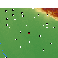 Nearby Forecast Locations - Rampur - Mapa