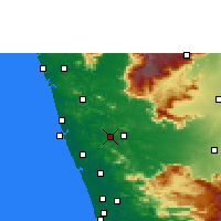 Nearby Forecast Locations - Shoranur - Mapa