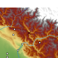 Nearby Forecast Locations - Tehri - Mapa
