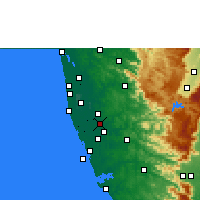 Nearby Forecast Locations - Tiruvalla - Mapa