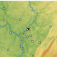 Nearby Forecast Locations - Lower Burrell - Mapa
