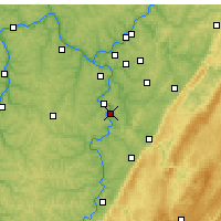 Nearby Forecast Locations - Monessen - Mapa
