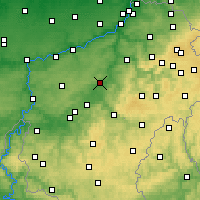Nearby Forecast Locations - Durbuy - Mapa