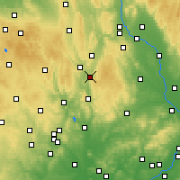 Nearby Forecast Locations - Boskovice - Mapa