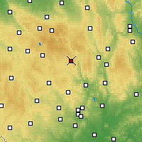 Nearby Forecast Locations - Bystřice nad Pernštejnem - Mapa