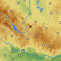 Nearby Forecast Locations - Kaplice - Mapa