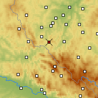 Nearby Forecast Locations - Kdyně - Mapa
