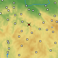 Nearby Forecast Locations - Ledeč nad Sázavou - Mapa