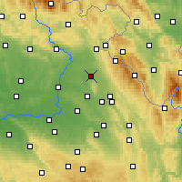 Nearby Forecast Locations - Opočno - Mapa