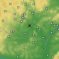 Nearby Forecast Locations - Pohořelice - Mapa