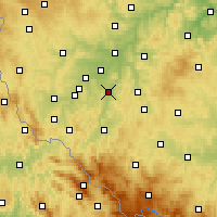 Nearby Forecast Locations - Přeštice - Mapa