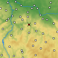 Nearby Forecast Locations - Sázava - Mapa