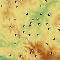 Nearby Forecast Locations - Staňkov - Mapa