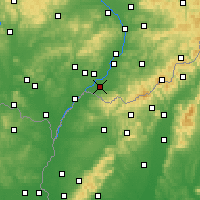 Nearby Forecast Locations - Strážnice - Mapa
