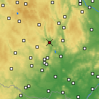 Nearby Forecast Locations - Tišnov - Mapa