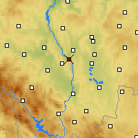 Nearby Forecast Locations - Týn nad Vltavou - Mapa