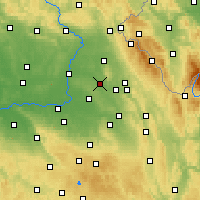 Nearby Forecast Locations - Týniště nad Orlicí - Mapa