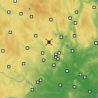 Nearby Forecast Locations - Velká Bíteš - Mapa