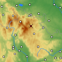 Nearby Forecast Locations - Vrbno pod Pradědem - Mapa