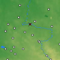 Nearby Forecast Locations - Działoszyn - Mapa