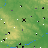 Nearby Forecast Locations - Sędziszów - Mapa