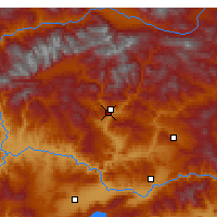 Nearby Forecast Locations - Tunceli - Mapa
