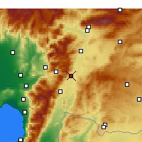 Nearby Forecast Locations - Nurdağı - Mapa