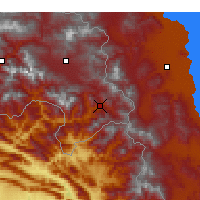 Nearby Forecast Locations - Şemdinli - Mapa