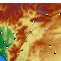 Nearby Forecast Locations - Türkoğlu - Mapa