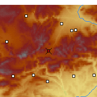 Nearby Forecast Locations - Doğanşehir - Mapa
