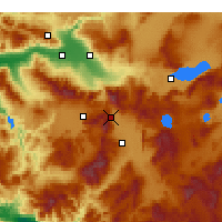 Nearby Forecast Locations - Serinhisar - Mapa