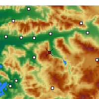 Nearby Forecast Locations - Bozdoğan - Mapa