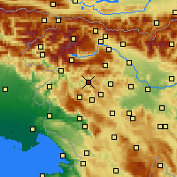 Nearby Forecast Locations - Cerkno - Mapa
