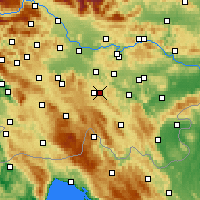 Nearby Forecast Locations - Občina Dobrepolje - Mapa