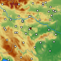 Nearby Forecast Locations - Dol pri Ljubljani - Mapa