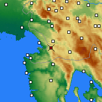 Nearby Forecast Locations - Občina Hrpelje-Kozina - Mapa