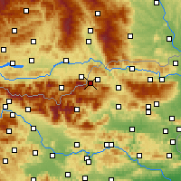 Nearby Forecast Locations - Mežica - Mapa