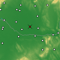 Nearby Forecast Locations - Kolárovo - Mapa
