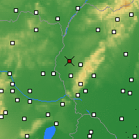 Nearby Forecast Locations - Trnava - Mapa