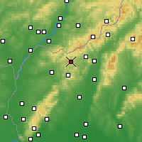 Nearby Forecast Locations - Myjava - Mapa