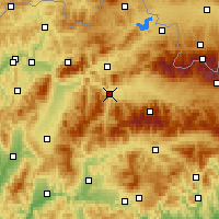 Nearby Forecast Locations - Ružomberok - Mapa