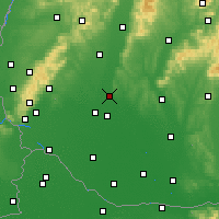 Nearby Forecast Locations - Sereď - Mapa
