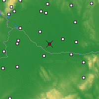 Nearby Forecast Locations - Veľký Meder - Mapa