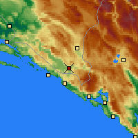 Nearby Forecast Locations - Trebinje - Mapa
