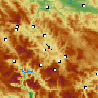 Nearby Forecast Locations - Visoko - Mapa