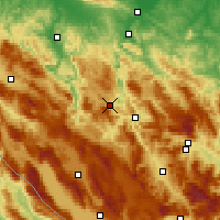 Nearby Forecast Locations - Mrkonjić Grad - Mapa