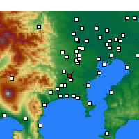 Nearby Forecast Locations - Machida - Mapa