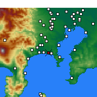 Nearby Forecast Locations - Fudžisawa - Mapa