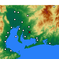 Nearby Forecast Locations - Okazaki - Mapa