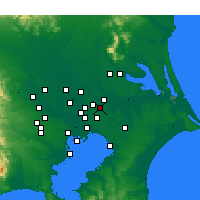 Nearby Forecast Locations - Abiko - Mapa